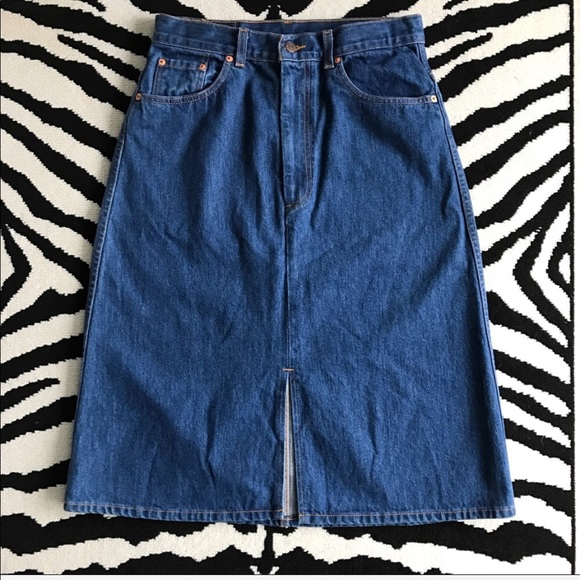 0baa2f63b0 Levi's Skirts | Vintage Levis Orange Tab Aline Denim Skirt | Poshmark